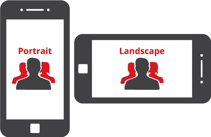 When shooting photos for your website, use the landscape orientation primarily for maximum flexibility